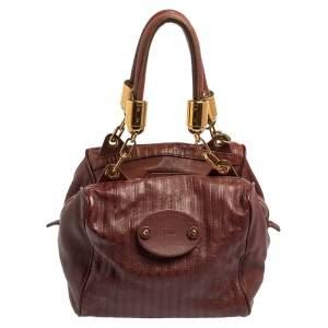 Chloe Purple Leather Satchel