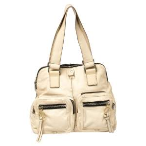 Chloe Cream Leather Large Betty Satchel