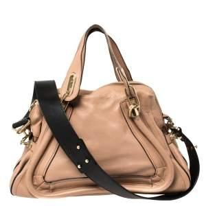 Chloe Old Rose Pink Leather Medium Paraty Shoulder Bag