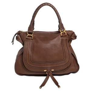 Chloé Brown Leather Large Marcie Satchel