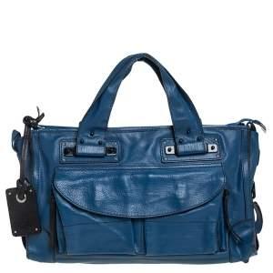 Chloe Blue Leather Tracy Satchel