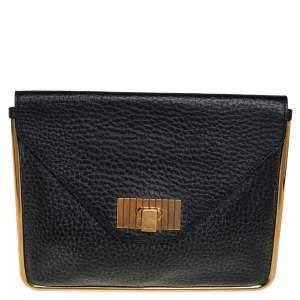 حقيبة كلتش كلوي سالي انفيلوب جلد مُحبب أسود