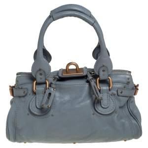 Chloé Grey Grained Leather Medium Paddington Satchel