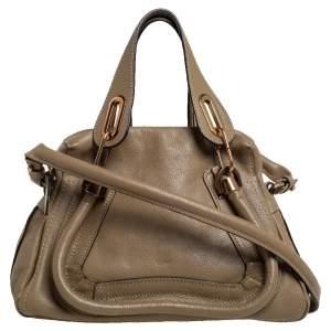 Chloe Beige Leather Small Paraty Shoulder Bag