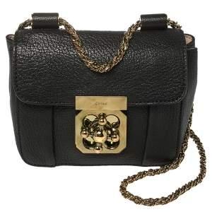 Chloe Black Leather Mini Elsie Crossbody Bag