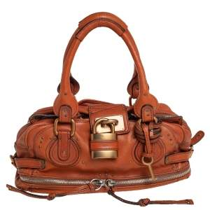 Chloe Brown Leather Medium Paddington Satchel