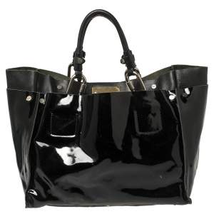 Chloé Black Patent And Leather Cyndi Tote
