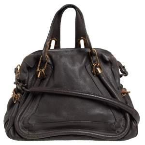 Chloe Grey Leather Paraty Bag