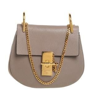 Chloé Beige Leather Small Drew Crossbody Bag
