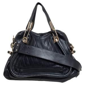 حقيبة كتف كلوي باراتي متوسطة جلد أسود