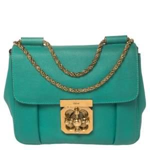 Chloé Green Leather Small Elsie Shoulder Bag