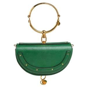 حقيبة كروس كلوي نايل سوار ميناودير جلد أخضر صغيرة
