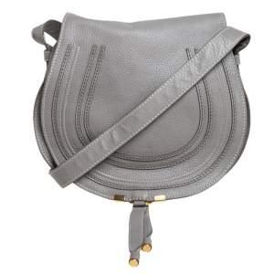 حقيبة كروس كلوي مارسي جلد رصاصي داكن متوسطة