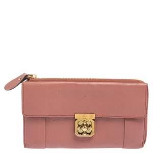 محفظة كونتينينتال كلوي إيلسي جلد وردي داكن