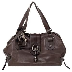 Chloe Brown Leather Kerala Satchel