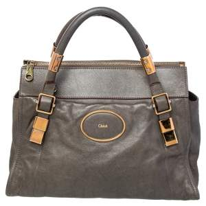 Chloé Grey Leather Satchel