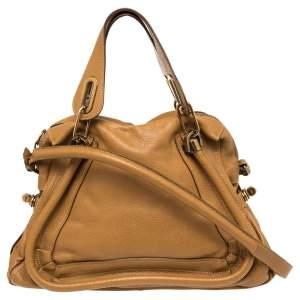 Chloe Brown Leather Medium Paraty Shoulder Bag