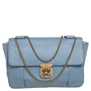 Chloe Blue Leather Large Elsie Shoulder Bag