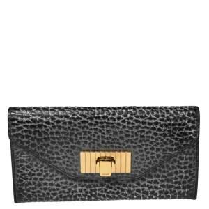 Chloe Dark Grey Leather Sally Continental Wallet