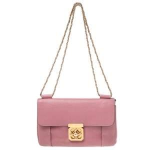Chloe Old Rose Leather Medium Elsie Shoulder Bag