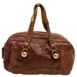 Chloe Brown Leather Zip Shoulder Bag