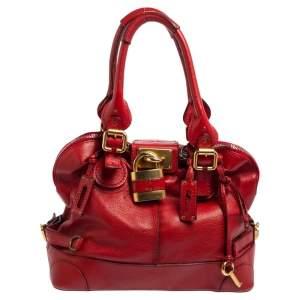 Chloe Red Leather Paddington Satchel