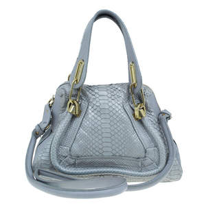 Chloe Grey Python Small Paraty Bag