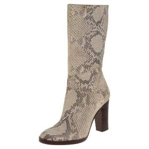 Chloé Two Tone Python Knee High Adelie Boots Size 35