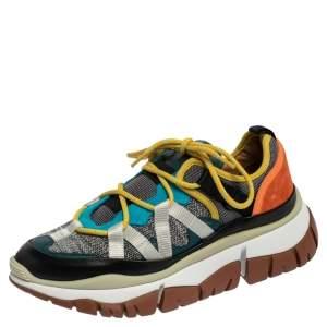 حذاء رياضي كلوي بلاك جلد وسويدي وشبكة متعدد الألوان مقاس 36