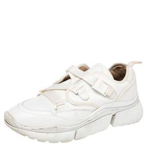 Chloe White Leather Sonnie Slip On Sneakers Size 38