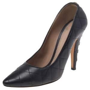Chloe Black Leather Embellished Pumps Size 39