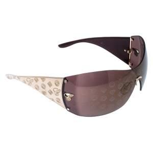 Chopard Gold/Brown Monogram Shield Sunglasses
