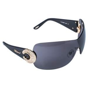 نظارة شمسية شيلد شوبارد SCH939S  سوداء/رصاصي كريستال مزخرف