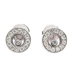 Chopard Happy Diamond 18K White Gold Stud Earrings