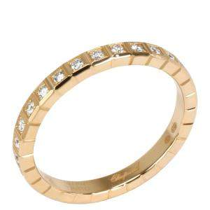 Chopard Ice Cube Diamond 0.31 CTW 18K Yellow Gold Eternity Ring Size 55