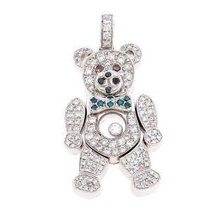 Chopard Happy Diamond 18k White Gold Teddy Bear Pendant