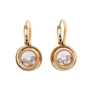 Chopard Happy Emotions Diamond 18K Rose Gold Earrings