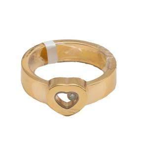 Chopard Yellow Gold Heart Happy Diamond Ring Size 64