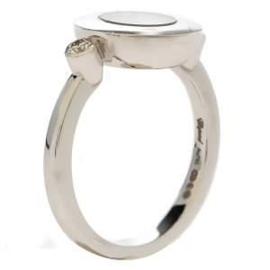 Chopard Happy Diamond 18K White Gold Ring EU 53