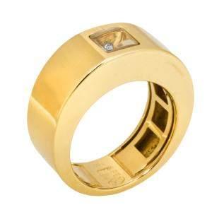 Chopard Happy Diamonds 18K Yellow Gold Band Ring 52
