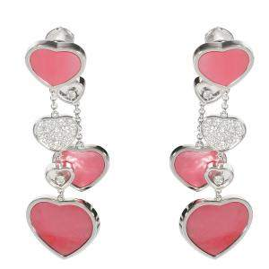 Chopard Happy Hearts Naked Hearts Foundation Mother of Pearl Earrings