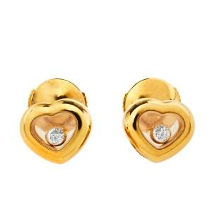 Chopard Happy Diamonds Icons 18K Yellow Gold Stud Earrings