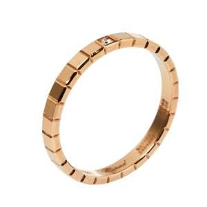 Chopard Ice Cube 1 Diamond 18K Rose Gold Ring Size 55