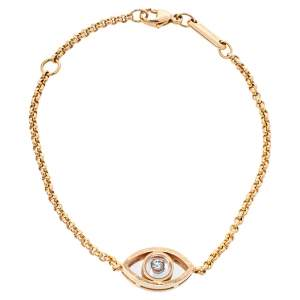 Chopard Happy Diamond Evils Eye 18K Rose Gold Bracelet