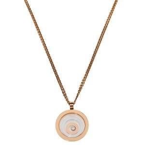 Chopard Happy Spirit Diamond 18K Two Tone Gold Pendant Necklace