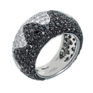 Chopard 18K White Gold Diamond Ring Size EU 53