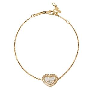 Chopard Happy Diamonds Icons 18K Yellow Gold Chain Link Bracelet