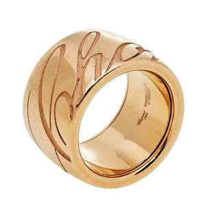 Chopard Rose Gold Chopardissimo Band Ring Size EU 52.50