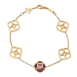 Chopard Imperiale Cocktail Amethyst 18K Rose Gold Station Bracelet
