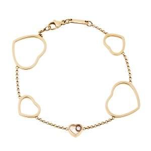 Chopard Happy Hearts Diamond 18K Rose Gold Bracelet